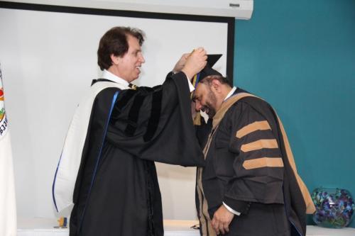 Dr. Soltani honoring Dr. Tahir