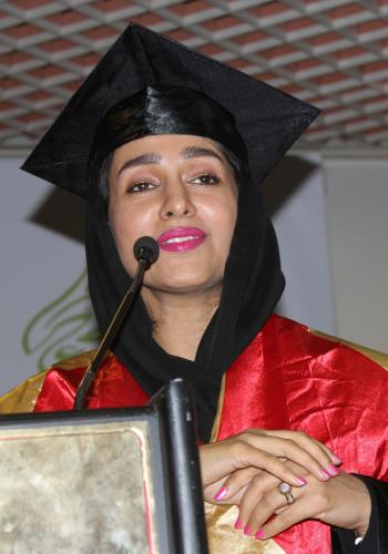 H.E. Dr. Maryam Mater addressing at the GLC Convocation Ceremoney 2015.